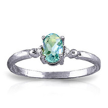 0.46 ct Platinum Plated 925 Sterling Silver Young Love Blue Topaz Ring - $79.95