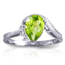 1.52 ct Platinum Plated 925 Sterling Silver Azur Peridot Diamond Ring - $65.21