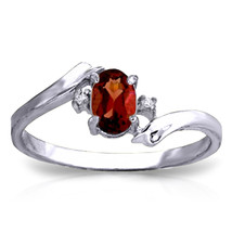 0.46 ct Platinum Plated 925 Sterling Silver Mystic Garnet Diamond Ring - $79.95