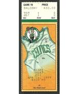 Miami Heat Boston Celtics 1999 Ticket Tim Hardaway Antoine Walker Vitaly... - $3.50