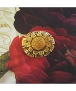 Bone Flower Focal Bead, Hand Carved, 47mm - $4.50