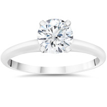 3/8ct Lab Created Solitaire Diamond Engagement Ring 14k White Gold - $574.19
