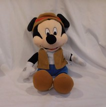 "Disney Mickey Mouse California Adventure Gone Fishing Safari 18"" Plush Park Rang - $12.81"