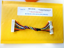 "Sony 32"" KDL-32L504 1-474-163-41 Power Board Cable [CN6201] to Main Board - $14.95"