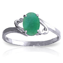 0.75 ct Platinum Plated 925 Sterling Silver Rings Natural Emerald - $79.50