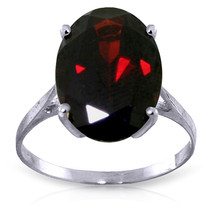 6 CTW Platinum Plated 925 Sterling Silver Ring Natural Oval Garnet - $83.21