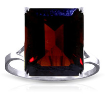 7 ct Platinum Plated 925 Sterling Silver Ring Natural Octagon Garnet - $95.02