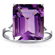 6.5 CTW Platinum Plated 925 Sterling Silver Ring Natural Octagon Purple Amethyst - $76.59
