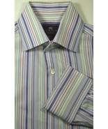 CURTIS Sm Slim Fit Rich Purple Orange White French Cuff Shirt Excellent ... - $99.99