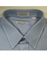 CHRISTIAN DIOR 17 x 35 Le Cachet de Dior  Blue Stripe Shirt Quality  RARE - $99.99