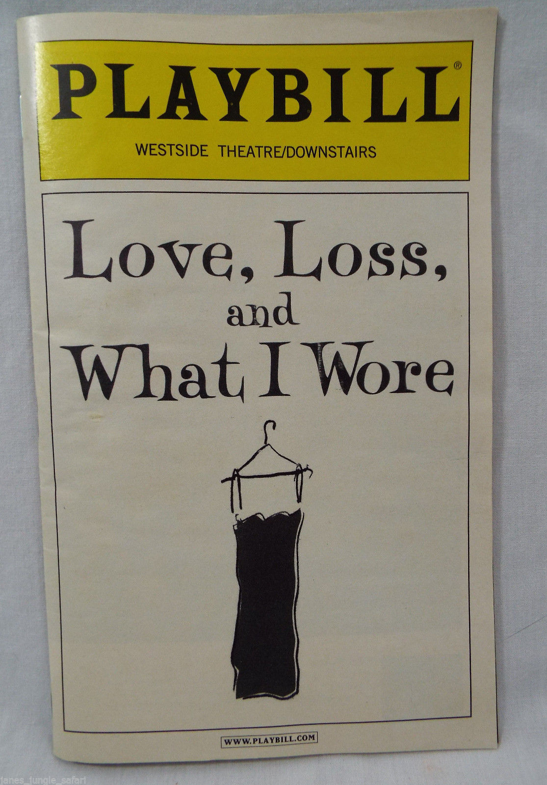 Primary image for Playbill Love, Loss, and What I Wore Westside Theater /Downstairs NYC April 2011