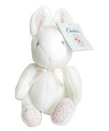 Carters Bunny Rabbit Rattle Toy for Baby Girls Pink White Plush Stuffed ... - $14.95