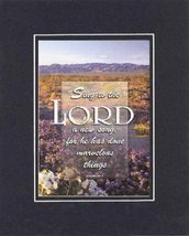 Sing to the Lord . . . 8 x 10 Inches Biblical/Religious Verses set in Double Bev - $11.14