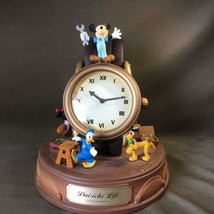 1900s Mickey & Friends Big table clock Gimmick melody desk clock Daiichi... - $135.63