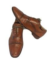 Cole Haan Mens Brown Leather Cap Toe Oxford Dress Shirt sz 12M 848878 - $20.79