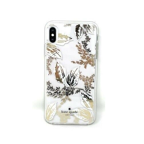Kate Spade New York Birchway Floral Print Hardshell Case for iPhone Xs Max, Gold