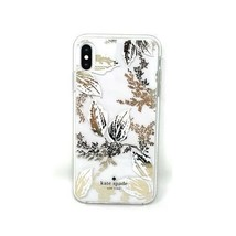 Kate Spade New York Birchway Floral Print Hardshell Case for iPhone Xs Max, Gold image 1