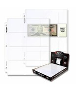 500 BCW 4-Pocket Currency Pages - $82.91