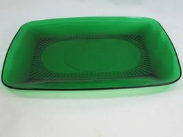 Anchor Hocking Mid Century Forest Green Platter 51834 - $19.79