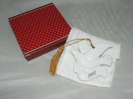 VTG 1981 Avon Christmas Remembrance Ceramic Ornament White Porcelain Dove Bird - $9.90