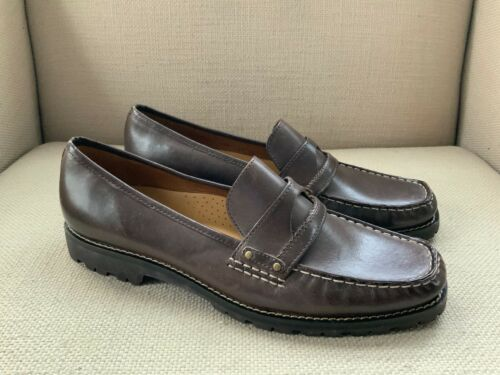 Primary image for Cole Haan Brown Leather Loafers US Womens size 9.5 B  NWOB