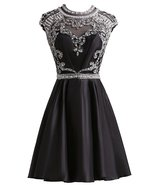 Black Homecoming Dresses Taffeta Open Back Sexy Short Prom Dress Cocktail Gowns - $154.00