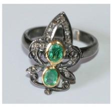 Vintage Look 0.36 Ct Rose Cut Diamond 925 Sterling Silver Ring CJUK632 - $3.379,80 MXN