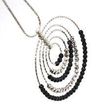 925 STERLING SILVER OFFICINA BERNARDI DIAMOND CUT BALLS NECKLACE MULTI CIRCLES image 3