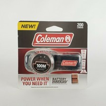 Coleman 200 Lumens LED Headlamp with Battery Guard W/Batteries New 100m Beam - $18.10