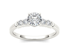 IGI Certified Solid 14k White Gold 0.75 Ct Diamond Classic Engagement Ring - $1,415.99