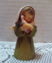 Vintage Molded Plastic Angel With Dove Christmas Ornament - $4.00