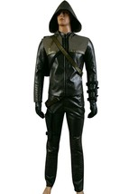 Green Arrow Oliver Queen Arrow Cosplay Costume Man Halloween Costumes - $126.96