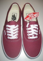 Vans Authentic Mens Dry Rose True White canvas Skate Boat shoes Size 8 NWT   image 2
