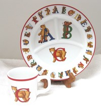1994 Tiffany & Co Alphabet Bears Cup & Plate In Excellent Shape - $54.45
