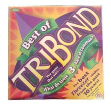 """Best of Tribond """"What Do These 3 Have in Common?"""" Mattel Board Game New Sealed - $29.58"""