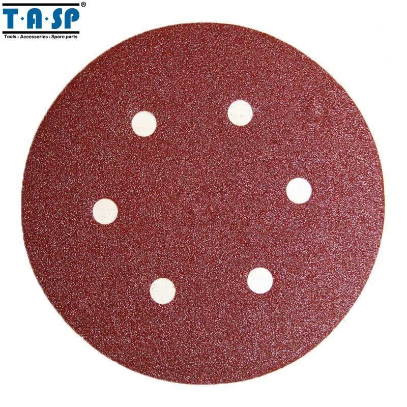 "Primary image for TASP® 25pc/Set 150mm 6"" Sandpaper Hook & Loop Abrasive Sanding Pad Paper Disc"