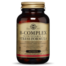 B-Complex With C Stress Formula Solgar 100 Tabs - dietary supplement - $13.90