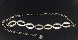 Chico's Women Belt OS Silver Medallion Chain Metal - $10.88