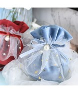 Candy Gift Bags With Pearl Europe Chocolate Package Bag Velvet Yarn Wedd... - $17.02