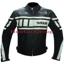 YAMAHA 0120 BLACK MOTORCYCLE MOTORBIKE BIKERS ARMOURED COWHIDE LEATHER J... - $194.99