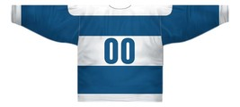 Any Name Number Quebec Bulldogs Retro Hockey Jersey Blue Any Size image 5