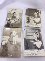 Vintage Photograph Lot Nursery Rhymes Mary Little Lamb Old Mother Hubbar... - $13.99