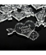 Table Decor 50Pcs 40mm*20 Mm Personalized Engraved Mr&Mrs Surname Clear ... - $16.91