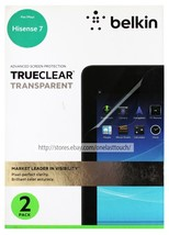 BELKIN* 2 Pack TRUE CLEAR TRANSPARENT Screen Protection FOR HISENSE 7 Cl... - $9.88