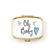 Oh Baby Small Gold Keepsake Tooth Box - Blue Heart (Pack of 1)  - $9.99