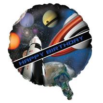 "Space Blast  Foil Metallic 18"" Balloon Rocket Birthday Party - $3.85"