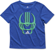 adidas Little Boys' Graphic T-Shirt, Bright Blue, Size 4 - $12.86