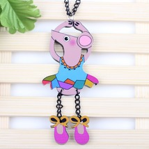 dance mouse necklace pendant acrylic  2015 news accessories spring summer cute d image 3