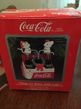 "1990 Enesco ""Things Go Better with Coke"" Christmas Ornament 580597 - $7.00"