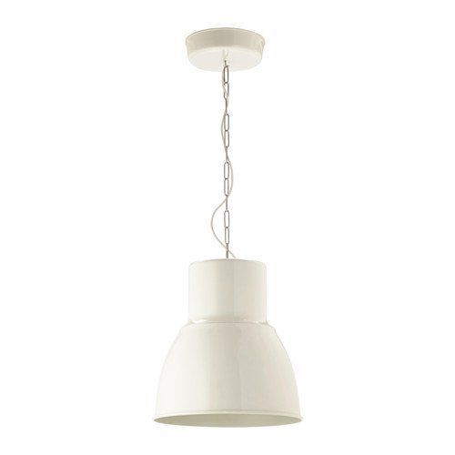 "IKEA HEKTAR White 15"" Ceiling Pendant Lamp, Aluminum, 403.262.28 - NEW IN BOX"